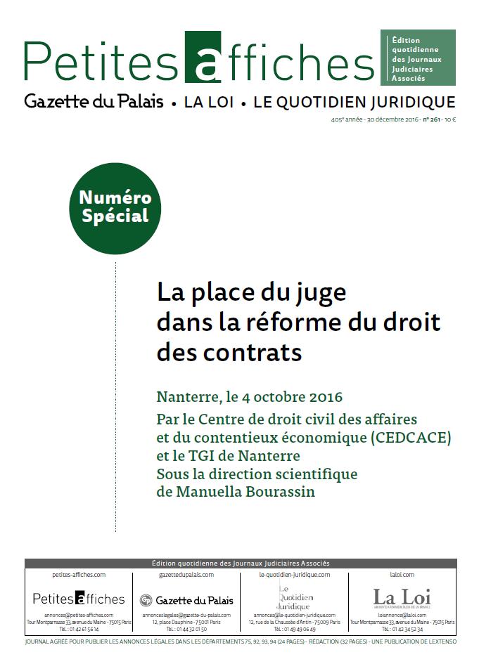 Presentation Generale De La Reforme Du Droit Des Contrats
